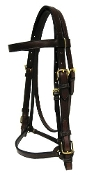 M & W Field Trial Bridle- 2pc Crown