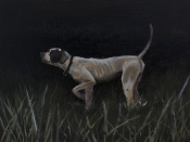 Pointer Original Oil Painting