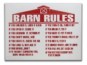 Barn Rules Sign