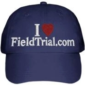 I Love FieldTrial.com Cap (Navy Blue)