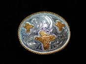 Quail Buckle Silver and Gold