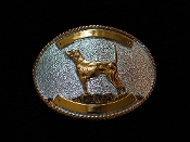 Pointer Buckle Silver and Gold