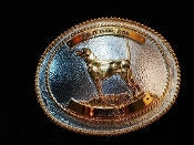 Pointer Trophy Buckle Silver and Gold